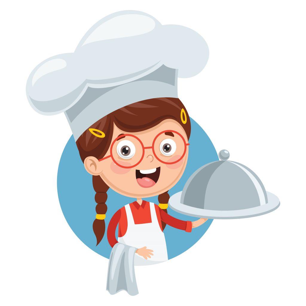 Girl making food
